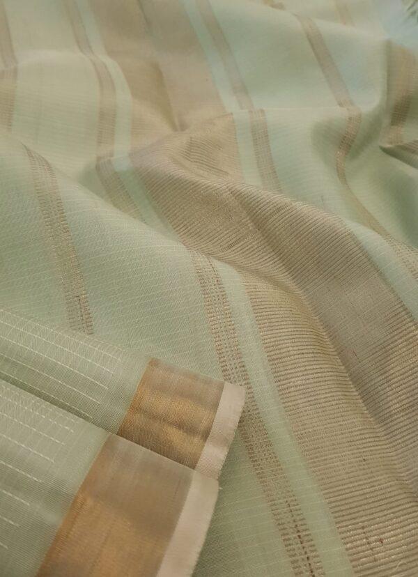 Pista green kanchipuram silk saree3