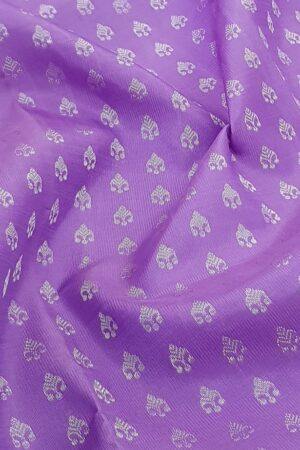 Purple kanchipuram silk sareePurple kanchipuram silk saree with silver zari2 with silver zari2