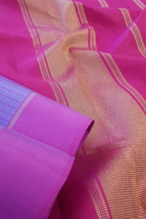 Purple with pink border kanchPurple with pink border kanchipuram silk saree2ipuram silk saree2