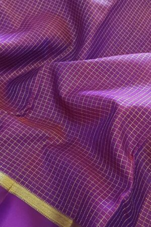 Violet kanchipuram silk saree2