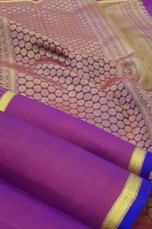 Violet kanchipuram silk saree3
