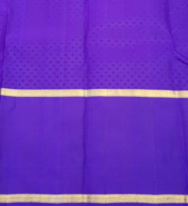 Violet kanchipuram silk saree4