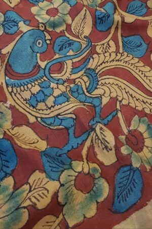 Zari border tussar saree with kalamkari3