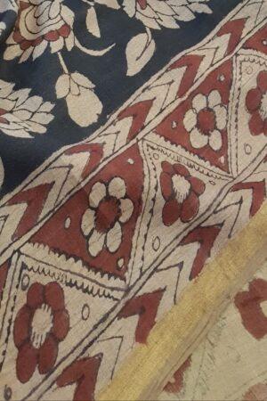 kalamkari painting on tussar saree3