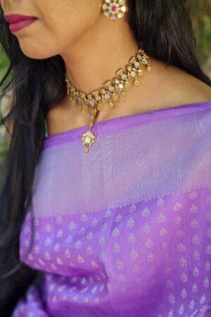 purple with silver zari1