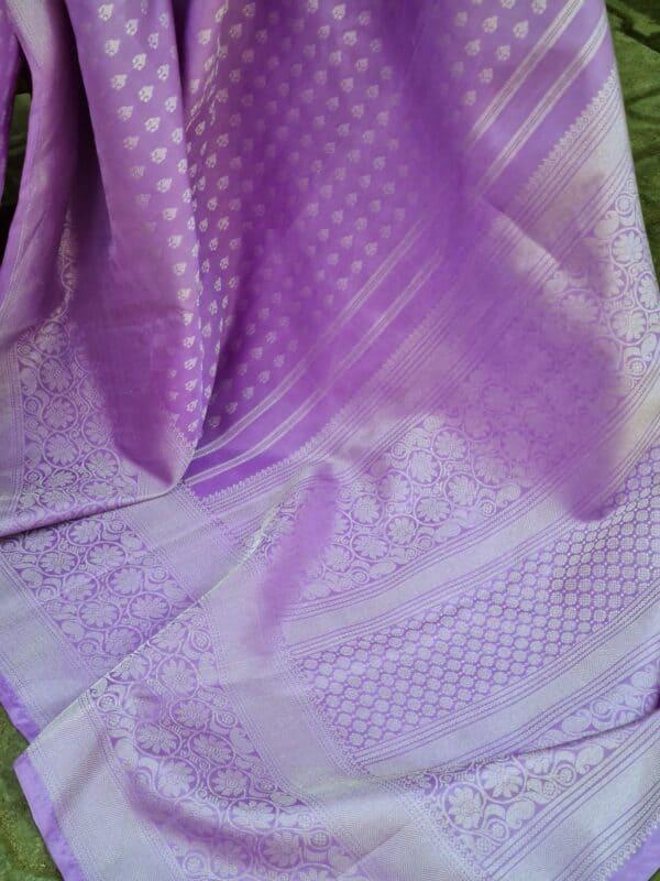 purple with silver zari2