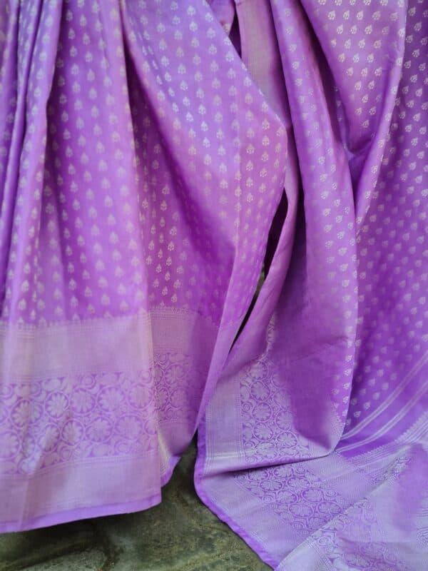 purple with silver zari3