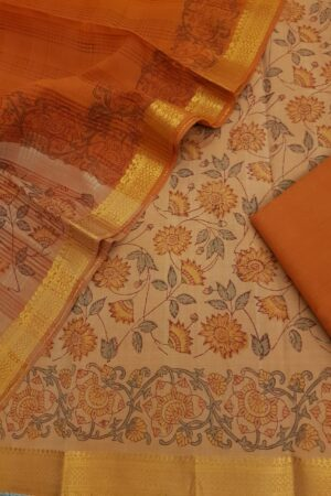 saffron mangalgiri suit set