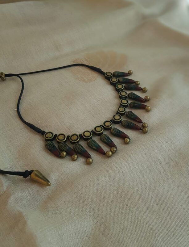 shaded terracotta necklace
