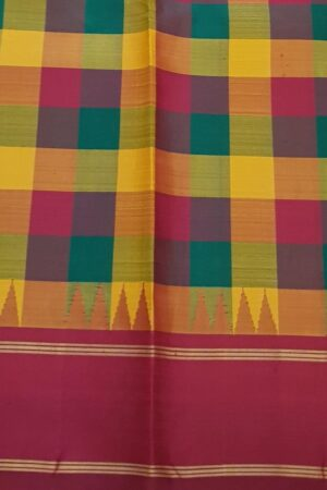 subhadra maroon hand painted vidarbha tussar saree 4