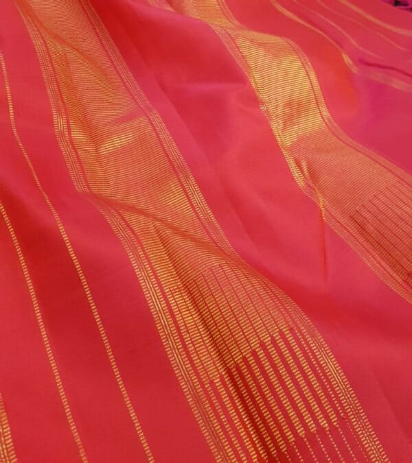 Black and orange half and half kanchipuram silk saree5