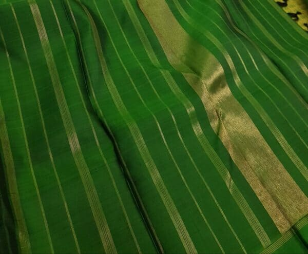 Black with green border kanchi silk saree1