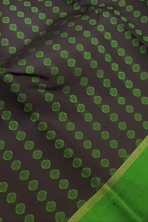 Black with green border kanchi silk saree3