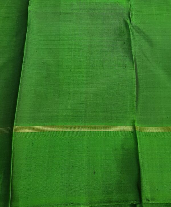 Black with green border kanchi silk saree4