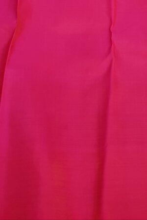 Bottle green and pink half and half kanchi silk saree2