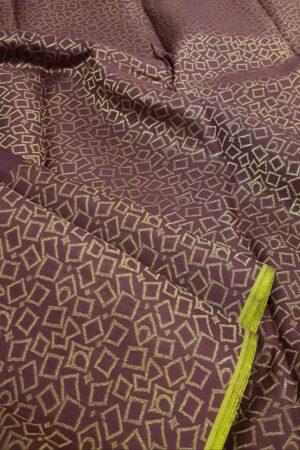 Brown kanchi silk saree1