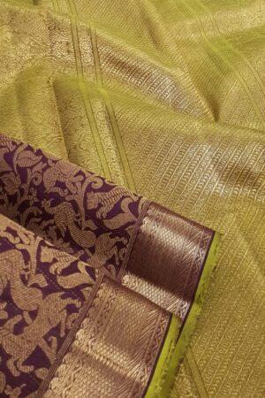 Brown vanasingaram kanchi silk saree1