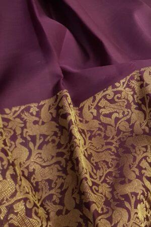Brown vanasingaram kanchi silk saree2