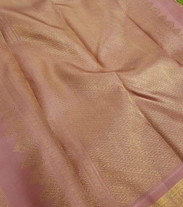 Dusty pink kanchipuram silk saree1