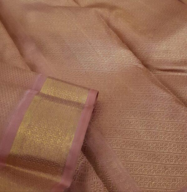 Dusty pink kanchipuram silk saree2