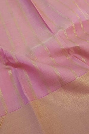 Light pink kanchi silk saree with bavanji border3