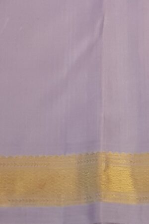 Lilac kanchipuram silk saree with buttis4