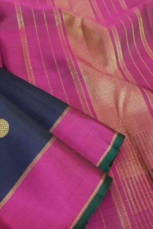 Navy blue kanchi silk saree2