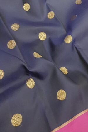 Navy blue kanchi silk saree3
