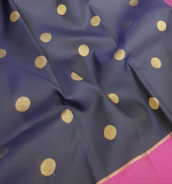 Navy blue kanchi silk saree3