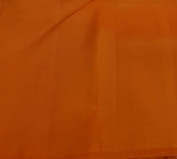Olive green with orange mango border silk saree4