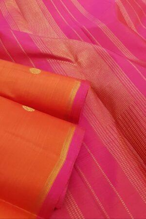 Orange kanchi silk saree2