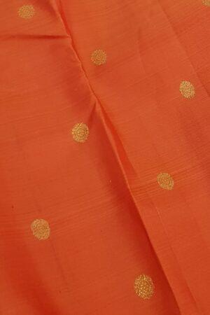 Orange kanchi silk saree3