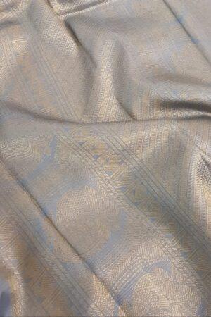 Pale blue kanchipuram silk saree with birds4