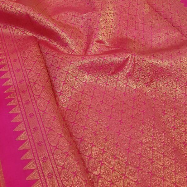 Pink brocade kanchi silk saree1