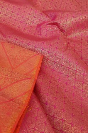 Pink brocade kanchi silk saree2