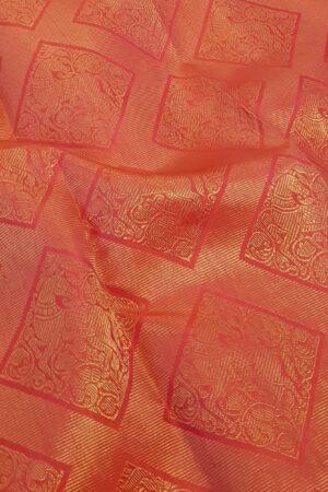 Pink brocade kanchi silk saree3