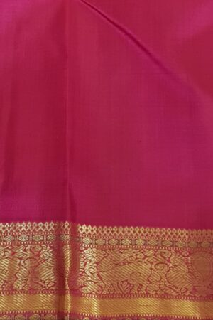 Pink kanchipuram silk saree with checks4