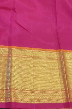 Violet heavy kanchi silk saree4