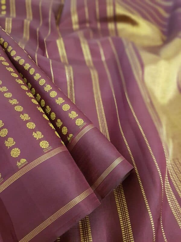Wine kanchi silk saree1