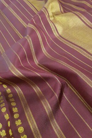 Wine kanchi silk saree3