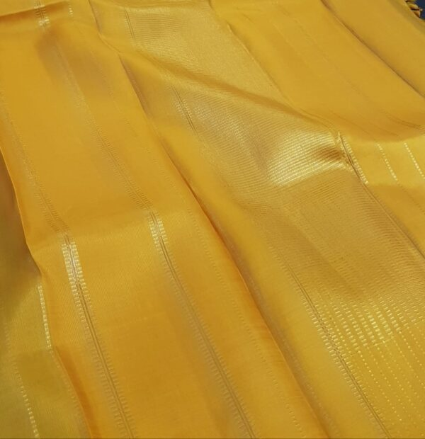 ananda blue kanchi silk saree with mustard pallu1