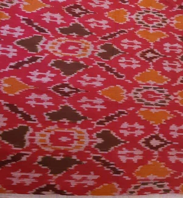 beige with red border cotton with silk border kalamkari4