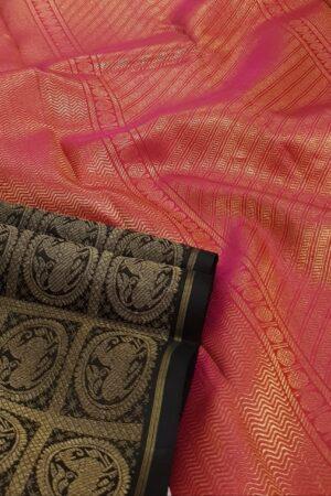 blue and black half and half kanchipuram silk saree2