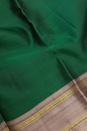 bottle green with mauve border silk saree1
