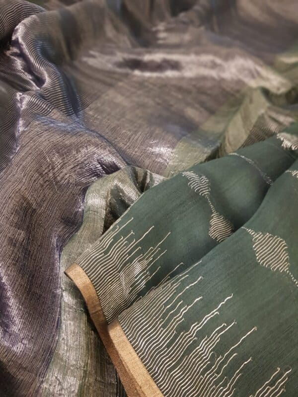 green soy silk saree3