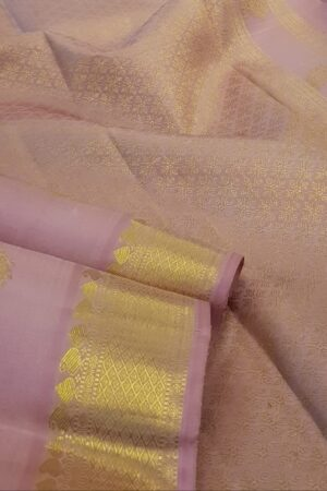 light pink kanchipuram silk saree1