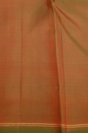 pink and orange half and half kanchipuram silk saree4