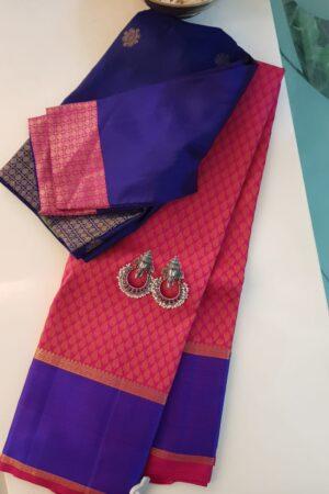 pink with violet border