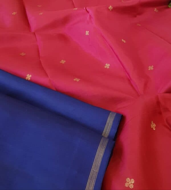 Blue with pink pallu2