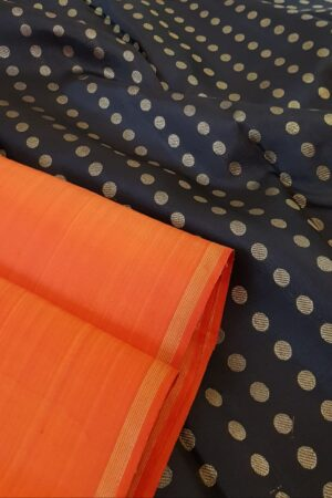 Orange with black pallu2